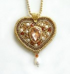 Heart Pendant Beaded