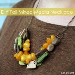 Fall Mixed Media DIY Chunky Necklace