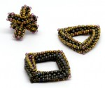Cubic Right Angle Weave with Beads