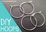 How to Make Hoop Earrings / Wine Charm Rings