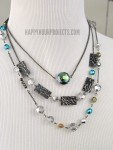 Boho Embossed Layered Necklace