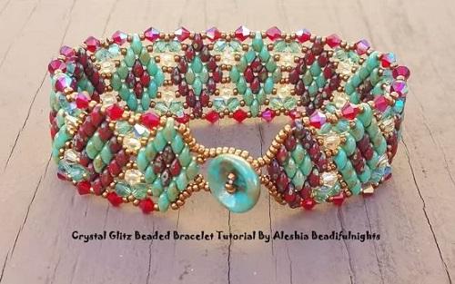 Superduo And Crystal Beaded Bracelet Tutorials